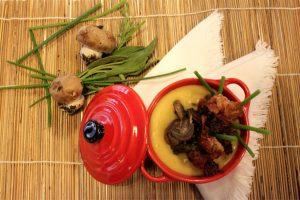 zuppa di patate con salsa spagnola