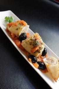 calamari ripieni con le patate e olive