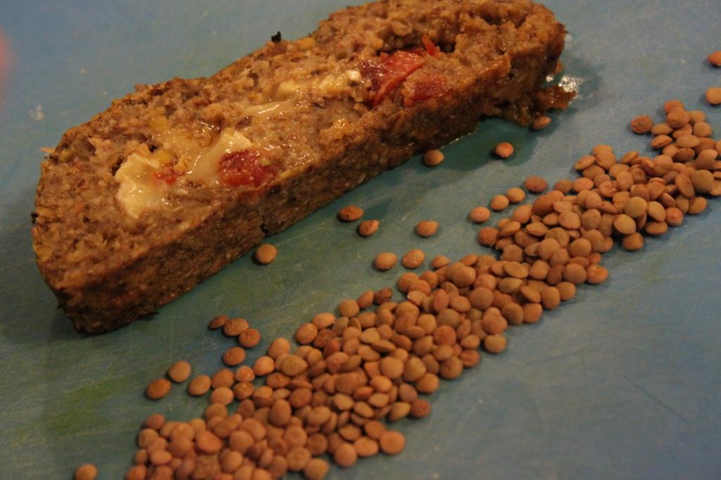 polpettone di lenticchie e pane