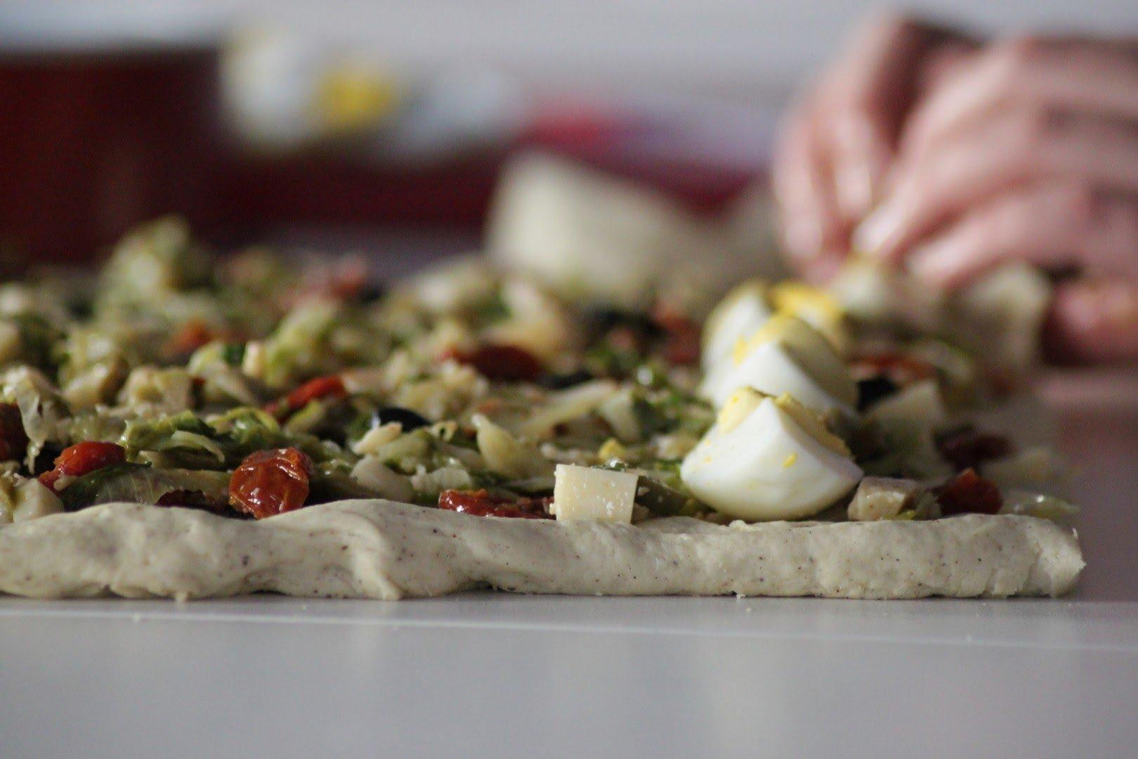 ricetta casatiello vegetariano