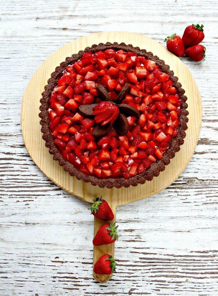 crostata al cioccolato e fragole 2