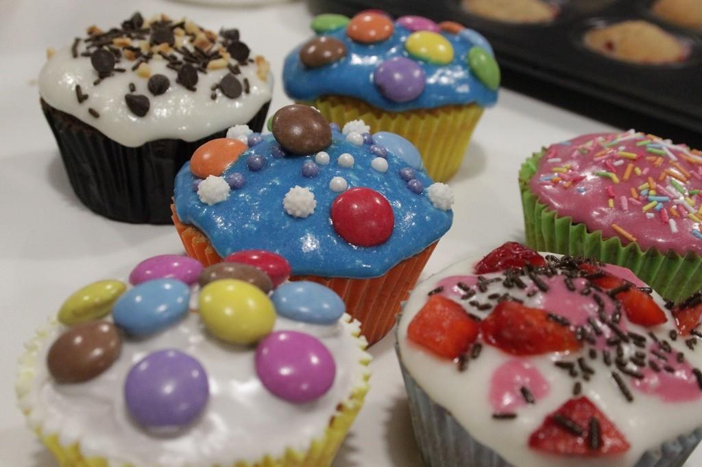 Cupcakes al cioccolato con glassa... metal!!!