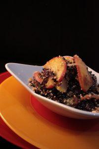 Insalata di riso venere e pesche 2