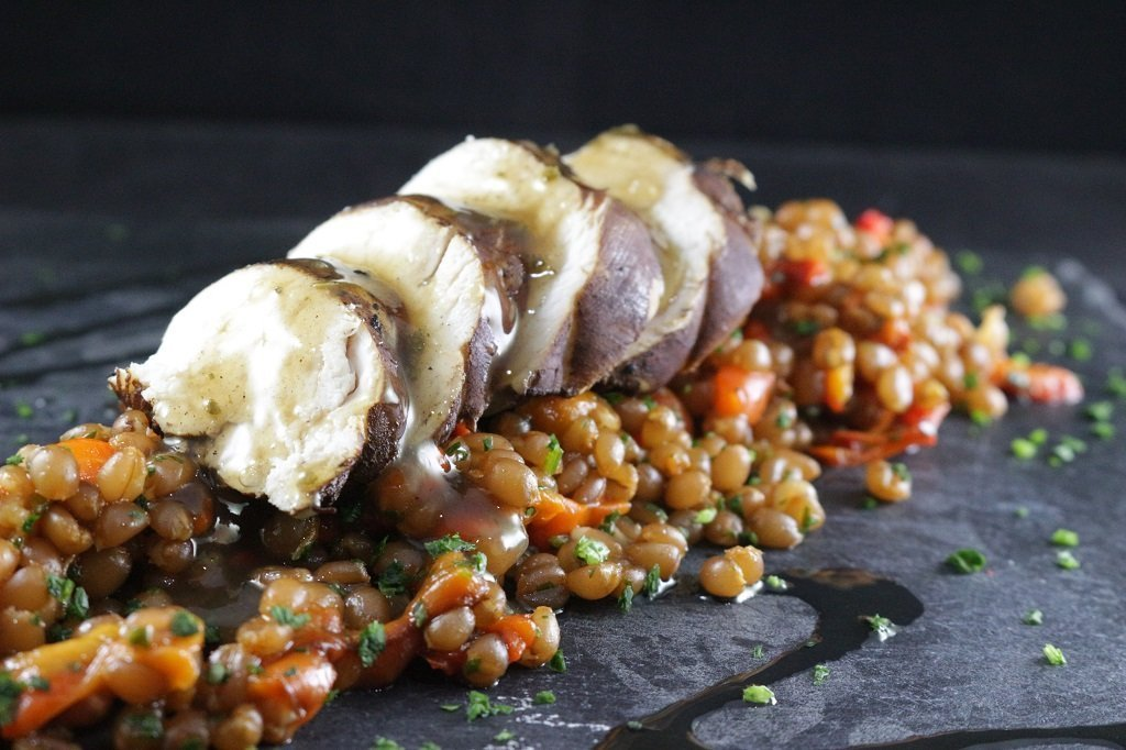 Insalata di farro, peperoni e pollo al balsamico 6