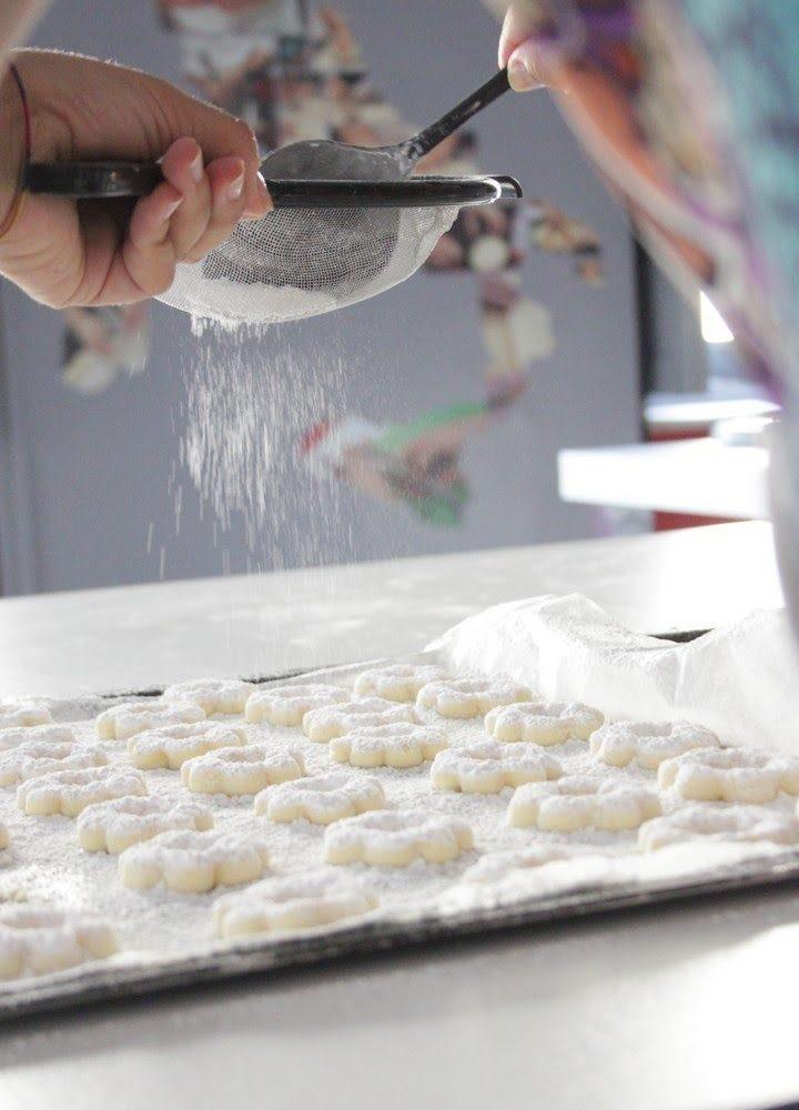 Biscotti Canestrelli con zucchero a velo