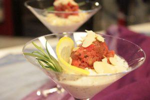gelato con ricotta e tartare di carne (8)