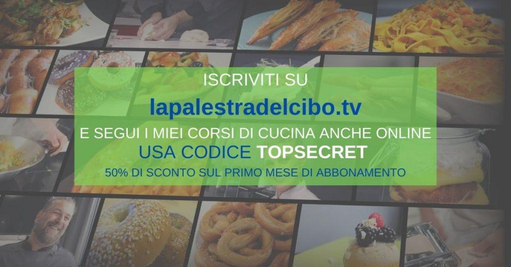 CORSO DI CUCINA ONLINE LAPALESTRADELCIBO.TV