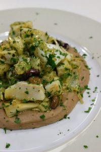 polenta di castagne e baccalà