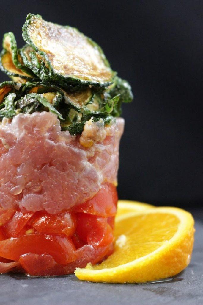 ricetta tartare di tonno e zucchine a scapece
