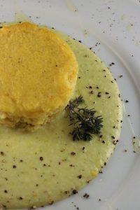 Sformatino di miglio in crema di zucchine e mascarpone