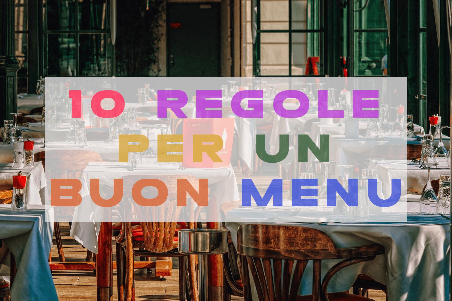 Ottimizzare il menu del ristorante scrivendolo correttamente
