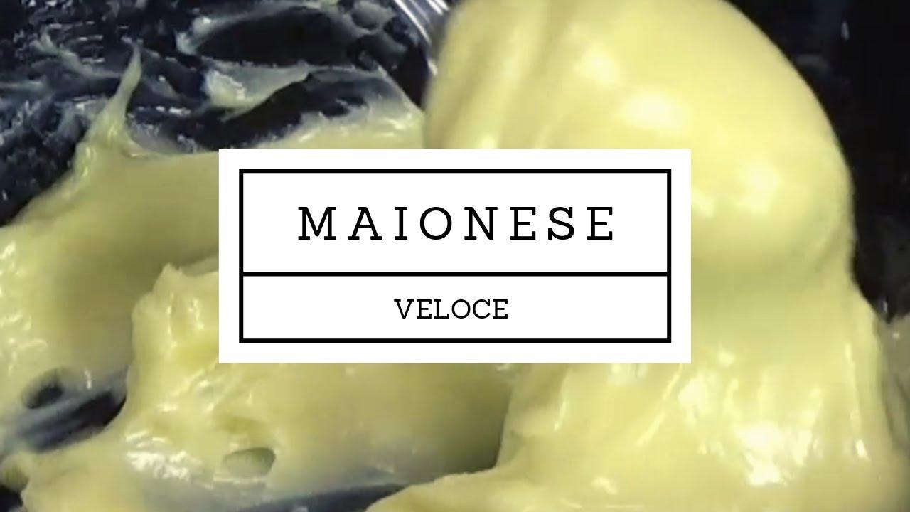 ricetta veloce della maionese